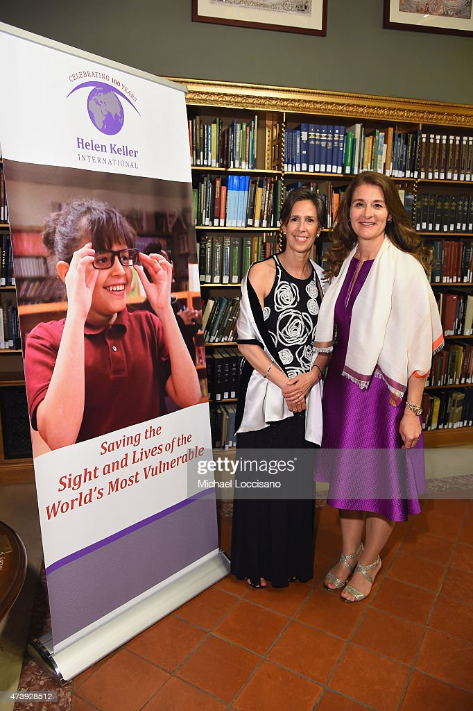 President and CEO of HKI Kathy Spahn and honoree Melinda Gates attend as Helen Keller International celebrates their centennial anniversary with the...
