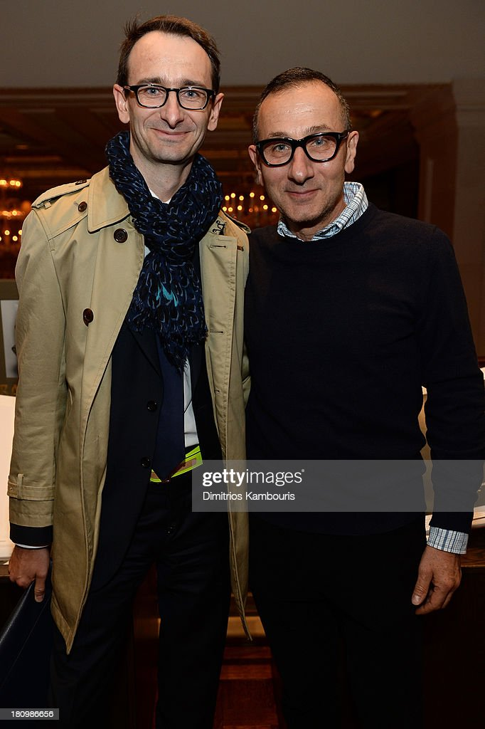 President and CEO of J. Mendel, Marc Durie and designer <a gi-track='captionPersonalityLinkClicked' href=/galleries/search?phrase=Gilles+Mendel&family=editorial&specificpeople=638035 ng-click='$event.stopPropagation()'>Gilles Mendel</a> attend ASSOULINE, Martine and Prosper Assouline host a book signing for Ketty Pucci-Sisti Maisonrouge's 'The Luxury Alchemist' at Assouline at The Plaza Hotel on September 18, 2013 in New York City.