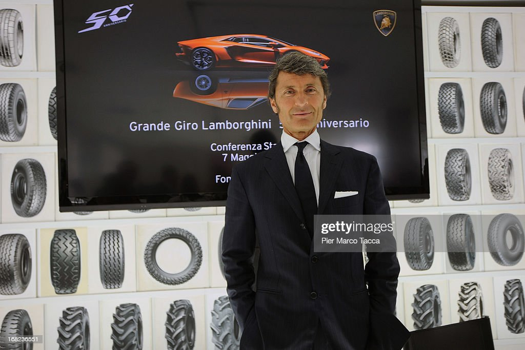 President and CEO of Lamborghini Stephan Winkelmann attends 50th Anniversary of Lamborghini press conference on May 7, 2013 in Milan, Italy. Automobili Lamborghini S.p.A is celebrating its 50th Anniversary (1963-2013) with a program of initiatives, culminating with the Lamborghini Anniversary Grand Tour across Italy with over 350 Lamborghinis participating that will arrive in Bologna.