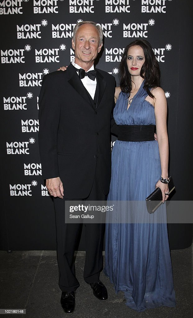 President and CEO of Montblanc International <a gi-track='captionPersonalityLinkClicked' href=/galleries/search?phrase=Lutz+Bethge&family=editorial&specificpeople=702473 ng-click='$event.stopPropagation()'>Lutz Bethge</a> and actress <a gi-track='captionPersonalityLinkClicked' href=/galleries/search?phrase=Eva+Green&family=editorial&specificpeople=211151 ng-click='$event.stopPropagation()'>Eva Green</a> attend the Montblanc White Nights Festival Welcome Gala Dinner on June 17, 2010 in Saint Petersburg, Russia.