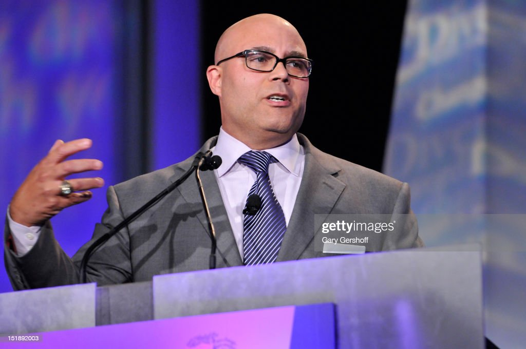 President and CEO of National Cable & Telecommunications Association Michael Powell speaks at the 29th Annual Walter Kaitz Foundation Fundraising Dinner at The Hilton Hotel on September 12, 2012 in New York City.