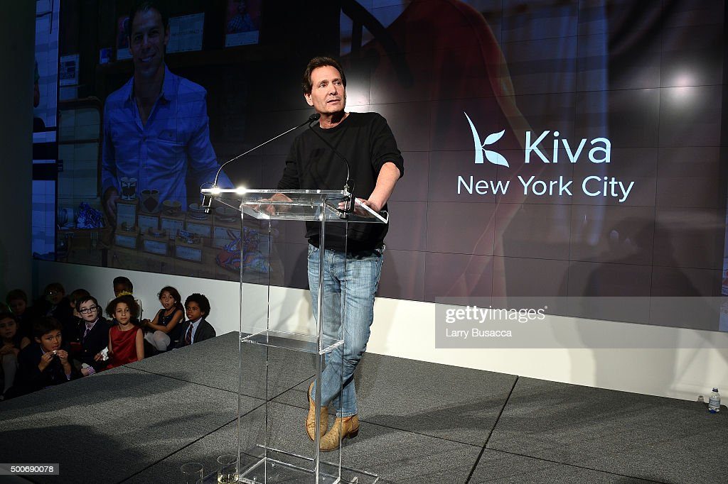 President and CEO of PayPal Dan Schulman speaks onstage at the Kiva NYC launch event at the IAC Building on December 9 2015 in New York City