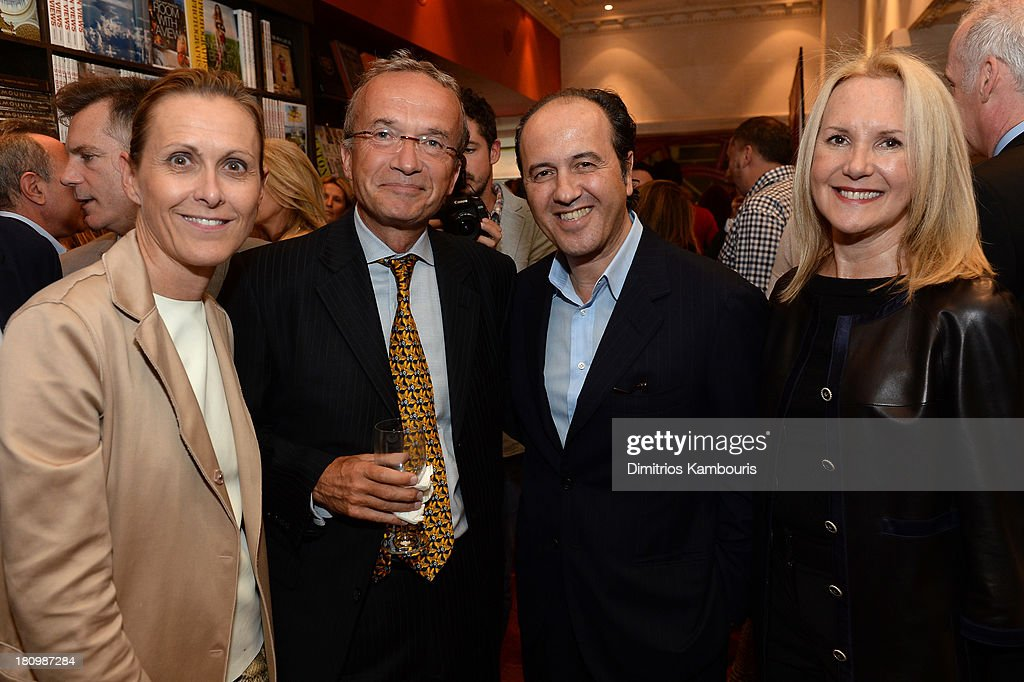 President and CEO of Reed Krakoff Valerie Hermann, Global Vice Chair of Dentons, Francois M. Chateau, Prosper Assouline and Marla Sabo attend ASSOULINE, Martine and Prosper Assouline host a book signing for Ketty Pucci-Sisti Maisonrouge's 'The Luxury Alchemist' at Assouline at The Plaza Hotel on September 18, 2013 in New York City.