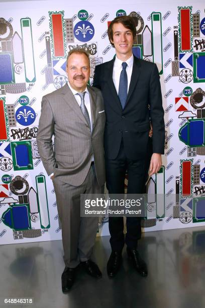 President and CEO of Rimowa Dieter Morszeck and CEO of Rimowa Alexandre Arnault attend the Opening of the Boutique Rimowa 73 Rue du Faubourg Saint...