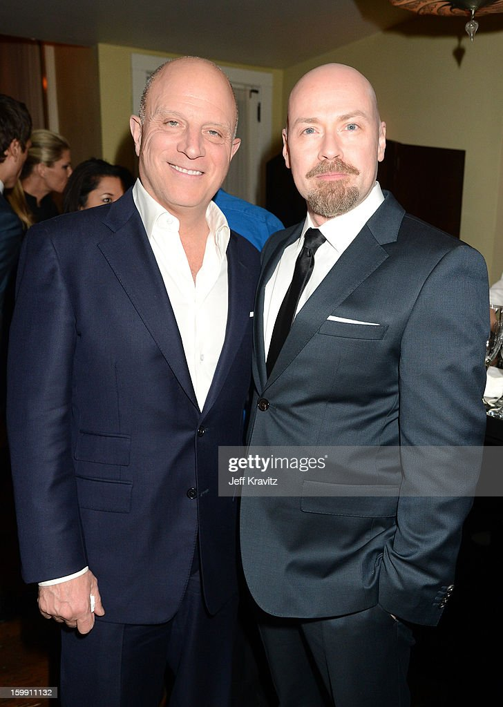 President and CEO of Starz <a gi-track='captionPersonalityLinkClicked' href=/galleries/search?phrase=Chris+Albrecht&family=editorial&specificpeople=213911 ng-click='$event.stopPropagation()'>Chris Albrecht</a> (L) and Executive producer Steven S. DeKnight attend the 'Spartacus: War Of The Damned' premiere after party on January 22, 2013 in Los Angeles, California.