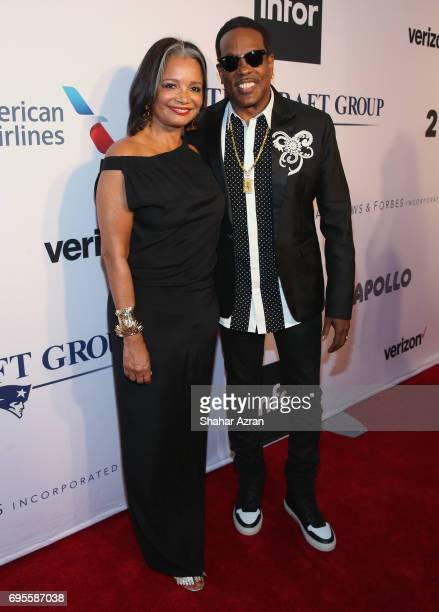 President and CEO of the Apollo Theater Foundation Joenelle Procope and singer Charlie Wilson attend Apollo Spring Gala 2017 at The Apollo Theater on...