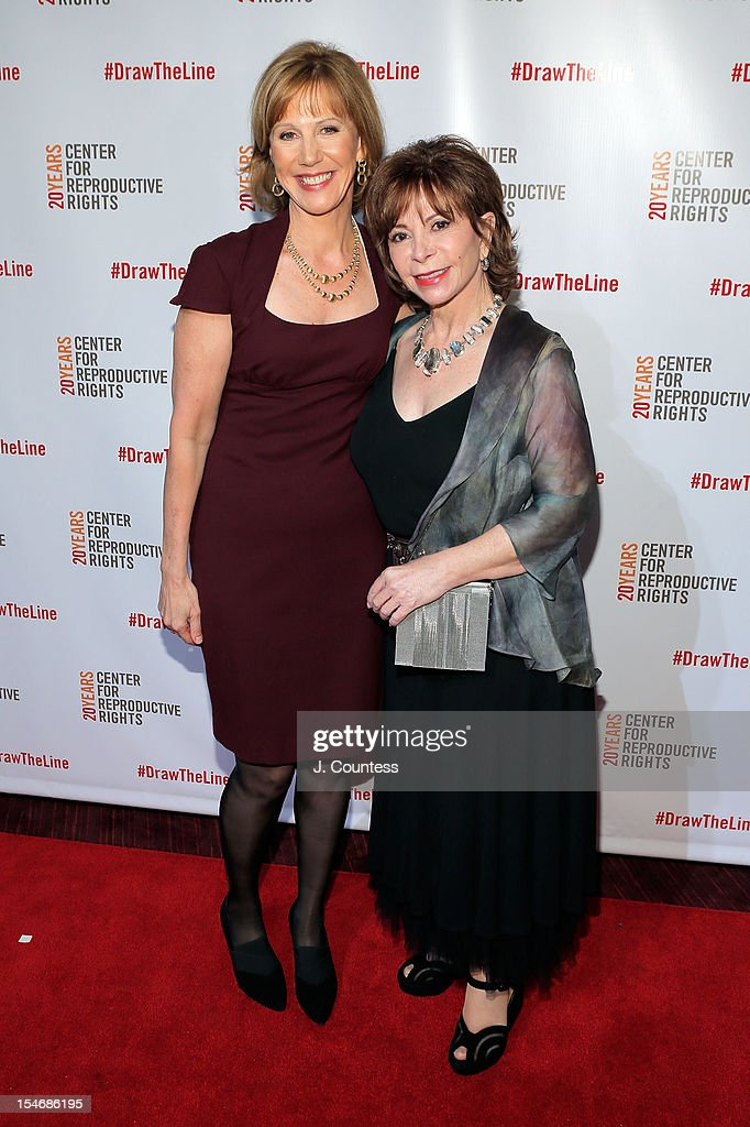 President and CEO of the Center for Reproductive Rights Nancy Northup and honoree Author Isabel Allende attend the Center For Reproductive Rights Inaugural Gala at Jazz at Lincoln Center on October 24, 2012 in New York City.