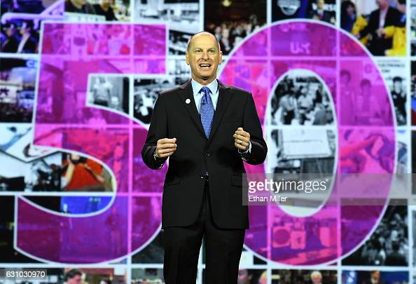 President and CEO of the Consumer Technology Association Gary Shapiro delivers a keynote address at CES 2017 at The Venetian Las Vegas on January 5...