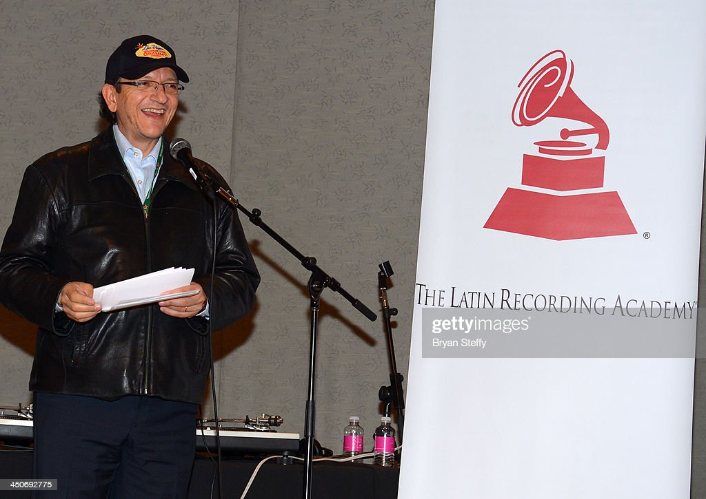 President and CEO of the Latin Recording Academy <a gi-track='captionPersonalityLinkClicked' href=/galleries/search?phrase=Gabriel+Abaroa&family=editorial&specificpeople=691921 ng-click='$event.stopPropagation()'>Gabriel Abaroa</a> speaks at the P&E Wing Latin GRAMMY Celebration during the 14th annual Latin GRAMMY Awards on November 19, 2013 at the Palms Casino Resort in Las Vegas, Nevada.