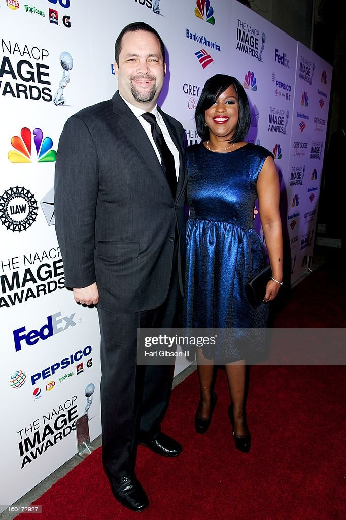 President and CEO of the NAACP <a gi-track='captionPersonalityLinkClicked' href=/galleries/search?phrase=Benjamin+Jealous&family=editorial&specificpeople=5707196 ng-click='$event.stopPropagation()'>Benjamin Jealous</a> and Chairman Roslyn M. Brock attend the 44th NAACP Image Awards Pre-Gala at Vibiana on January 31, 2013 in Los Angeles, California.