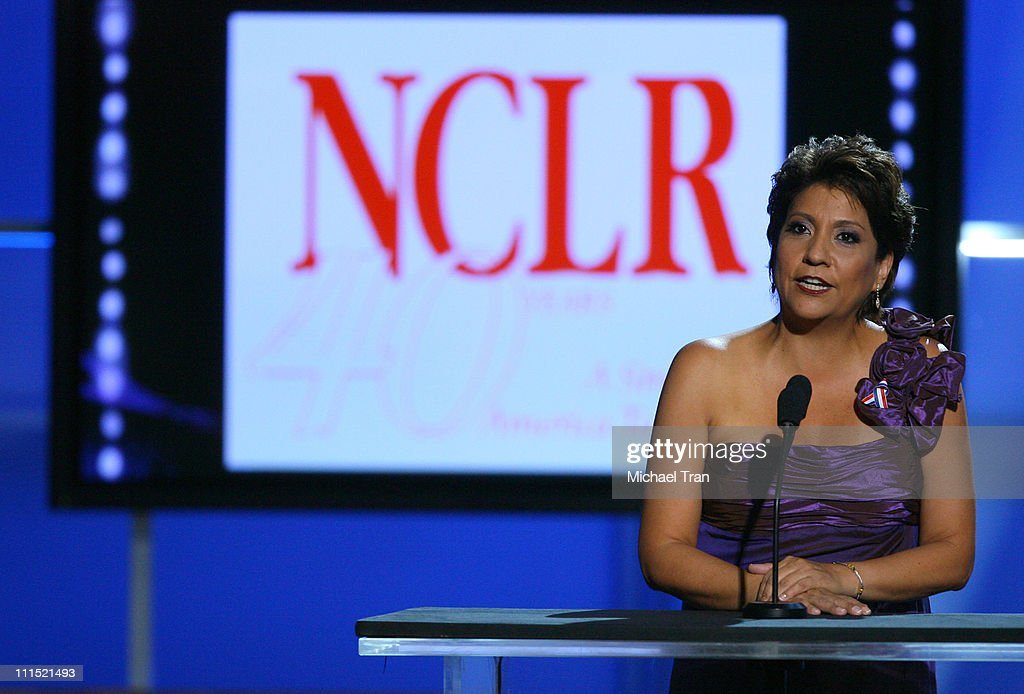 President and CEO of the National Council of La Raza (NCLR) <a gi-track='captionPersonalityLinkClicked' href=/galleries/search?phrase=Janet+Murguia&family=editorial&specificpeople=646135 ng-click='$event.stopPropagation()'>Janet Murguia</a> onstage during the 2008 ALMA Awards at the Pasadena Civic Auditorium on August 17, 2008 in Pasadena, California.