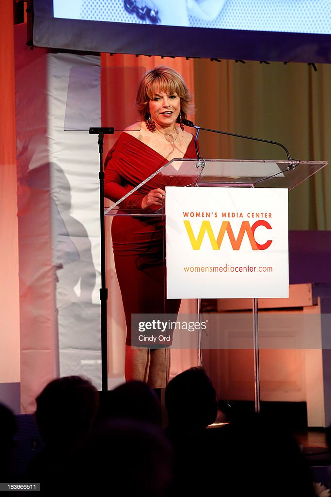 President and CEO of The Paley Center for Media, <a gi-track='captionPersonalityLinkClicked' href=/galleries/search?phrase=Pat+Mitchell&family=editorial&specificpeople=228102 ng-click='$event.stopPropagation()'>Pat Mitchell</a> speaks onstage at the 2013 Women's Media Awards on October 8, 2013 in New York City.