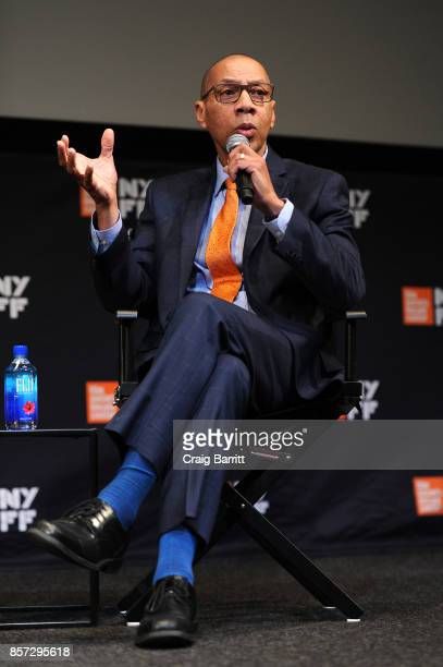 President and CEO of the Queens Library Dennis Walcott speaks onstage at the 'Without A Net' NYFF Special Screening With Zendaya And Rory Kennedy...