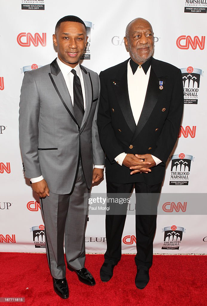 President and CEO of the Thurgood Marshall College Fund, Johnny C. Taylor, Jr. and <a gi-track='captionPersonalityLinkClicked' href=/galleries/search?phrase=Bill+Cosby&family=editorial&specificpeople=206281 ng-click='$event.stopPropagation()'>Bill Cosby</a> attend the Thurgood Marshall College Fund 25th Awards Gala on November 11, 2013 in Washington City.