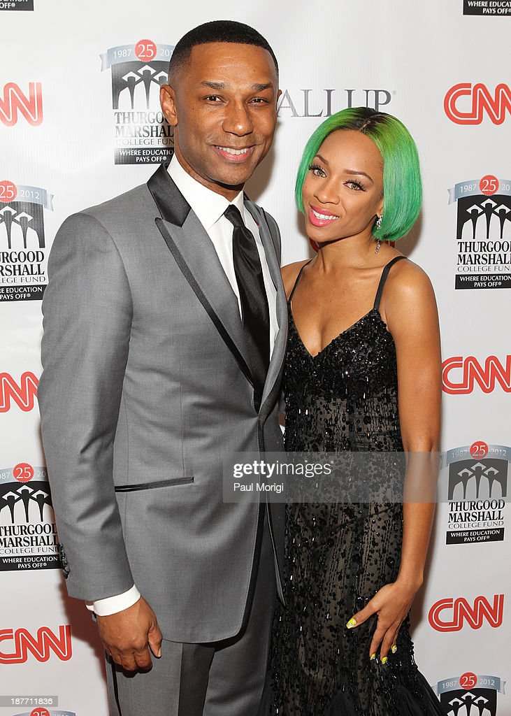 President and CEO of the Thurgood Marshall College Fund, Johnny C. Taylor, Jr. and <a gi-track='captionPersonalityLinkClicked' href=/galleries/search?phrase=Lil+Mama&family=editorial&specificpeople=4231669 ng-click='$event.stopPropagation()'>Lil Mama</a> attend the Thurgood Marshall College Fund 25th Awards Gala on November 11, 2013 in Washington City.