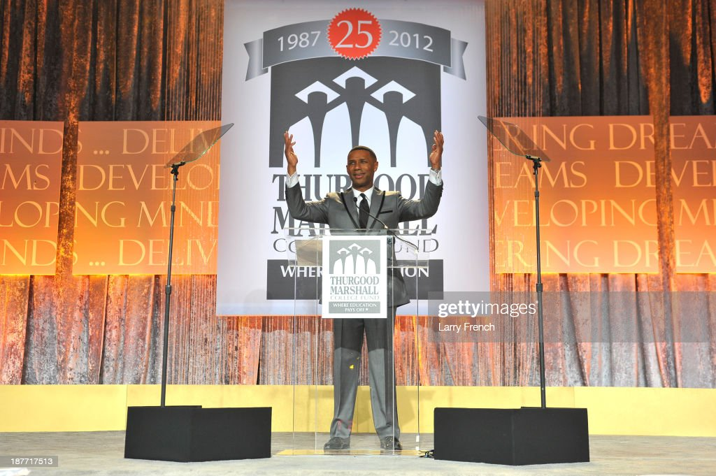 President and CEO of the Thurgood Marshall College Fund, Johnny C. Taylor, Jr. speaks onstage at the Thurgood Marshall College Fund 25th Awards Gala on November 11, 2013 in Washington City.