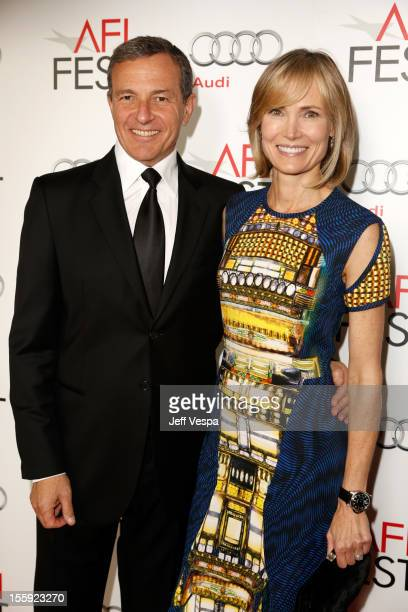 President and CEO of The Walt Disney Company Bob Iger and Willow Bay arrive at the 'Lincoln' closing night gala premiere during AFI Fest 2012 at...