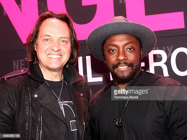President and CEO of TMobile John Legere and singersongwriter william attend TMobile Uncarrier X Launch Celebration at The Shrine Auditorium on...