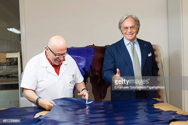 FIGARO ID 111370025 President and CEO of Tod's Diego Della Valle is photographed for Le Figaro Magazine on July 29 2014 in Casette d'Ete Italy...