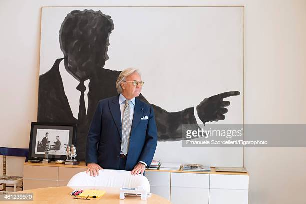 FIGARO ID 111370029 President and CEO of Tod's Diego Della Valle is photographed in his office for Le Figaro Magazine on July 29 2014 in Casette...