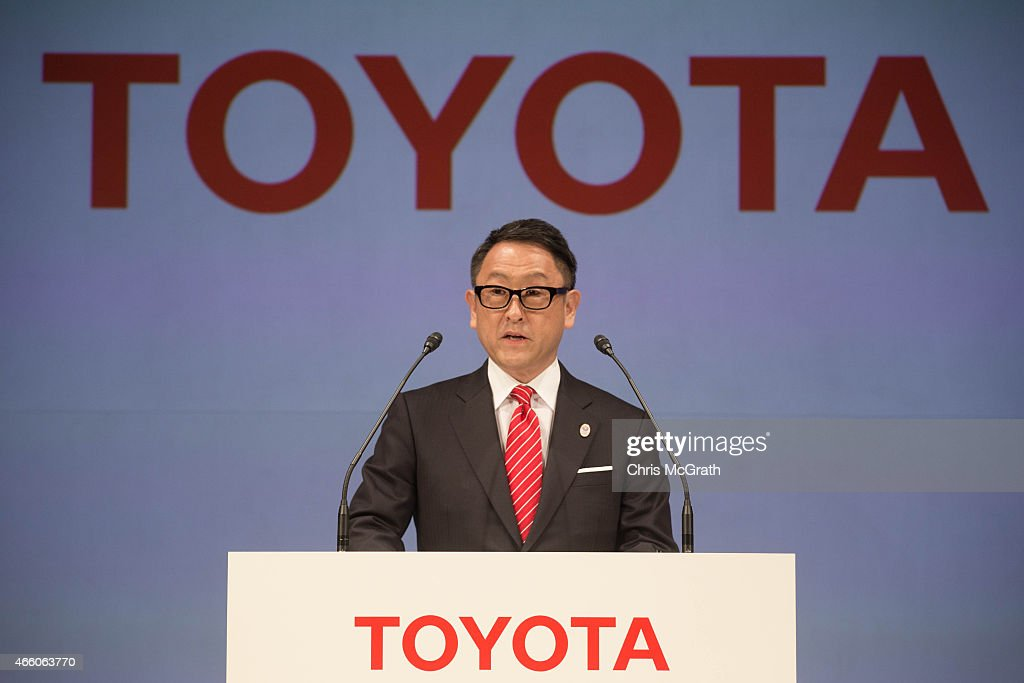 President and CEO of Toyota Motor Corporation, <a gi-track='captionPersonalityLinkClicked' href=/galleries/search?phrase=Akio+Toyoda&family=editorial&specificpeople=2334399 ng-click='$event.stopPropagation()'>Akio Toyoda</a> speaks to the media during a news conference at the Imperial Hotel on March 13, 2015 in Tokyo, Japan. Toyota Motor Co. signed with IOC to join The Olympic Partner Programme (TOP).