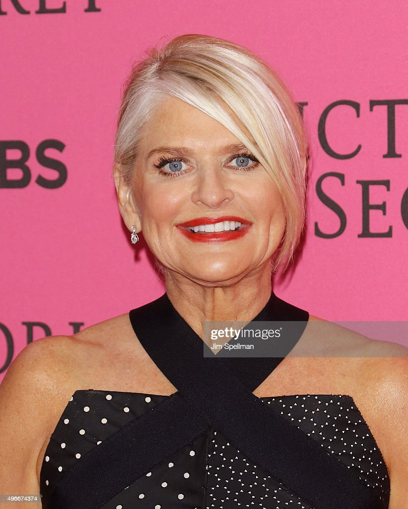 President and CEO of Victoria's Secret Sharen Jester Turney attends the 2015 Victoria's Secret Fashion Show pink carpet arrivals at Lexington Armory...