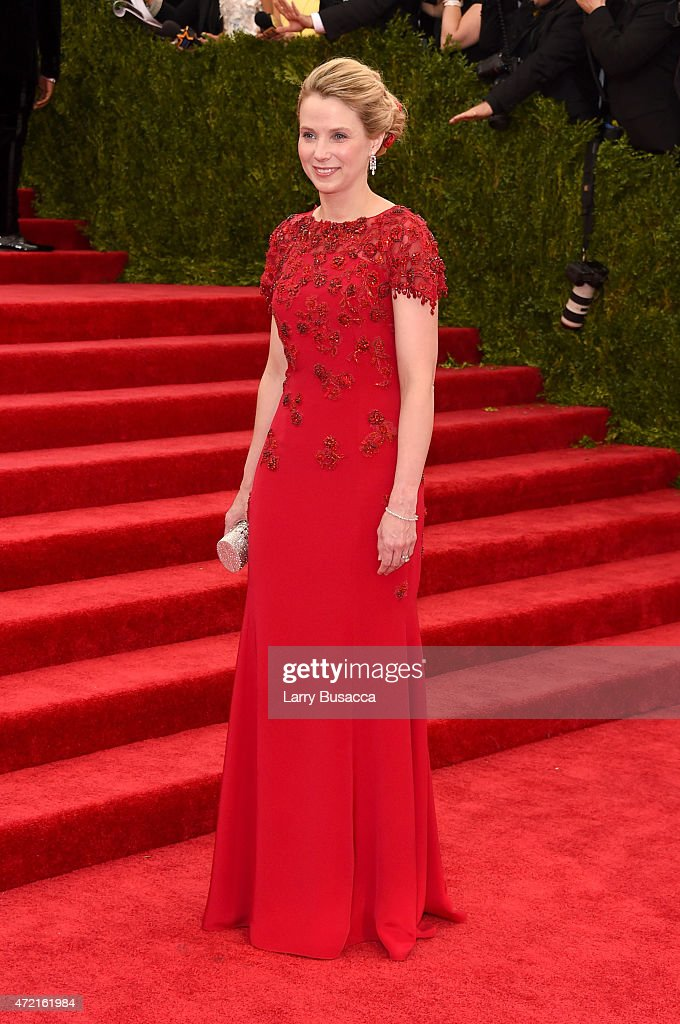 President and CEO of Yahoo Marissa Mayer attends the 'China: Through The Looking Glass' Costume Institute Benefit Gala at the Metropolitan Museum of Art on May 4, 2015 in New York City.