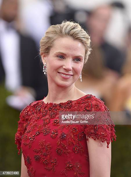 President and CEO of Yahoo Marissa Mayer attends the 'China Through The Looking Glass' Costume Institute Benefit Gala at the Metropolitan Museum of...