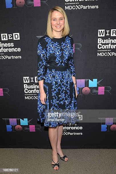 President and CEO of Yahoo Marissa Mayer attends the WIRED Business Conference Think Bigger at Museum of Jewish Heritage on May 7 2013 in New York...