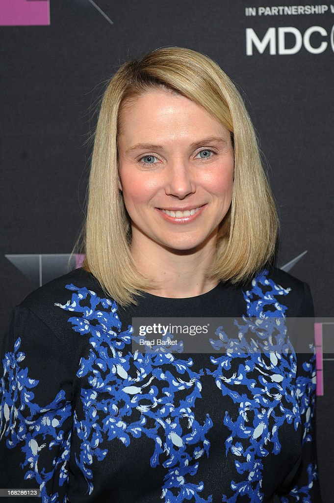President and CEO of Yahoo!, <a gi-track='captionPersonalityLinkClicked' href=/galleries/search?phrase=Marissa+Mayer&family=editorial&specificpeople=5577875 ng-click='$event.stopPropagation()'>Marissa Mayer</a> attends the WIRED Business Conference: Think Bigger at Museum of Jewish Heritage on May 7, 2013 in New York City.