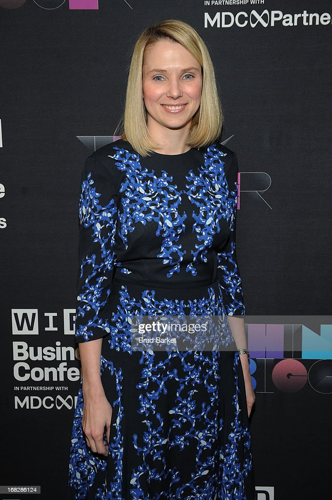 President and CEO of Yahoo!, Marissa Mayer attends the WIRED Business Conference: Think Bigger at Museum of Jewish Heritage on May 7, 2013 in New York City.