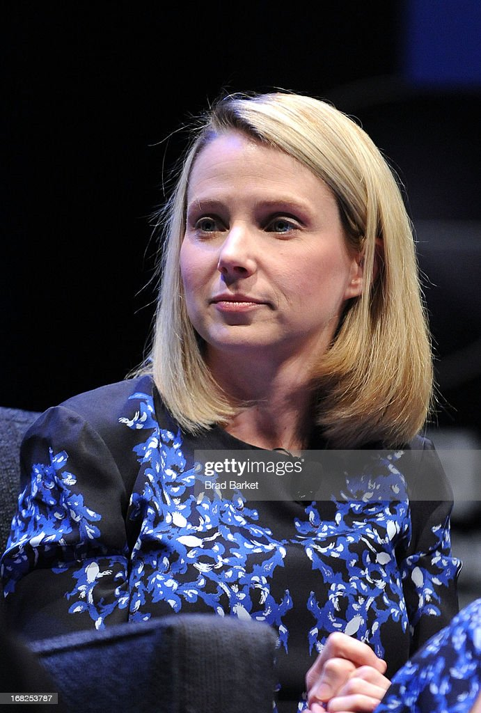 President and CEO of Yahoo!, Marissa Mayer speaks at the WIRED Business Conference: Think Bigger at Museum of Jewish Heritage on May 7, 2013 in New York City.