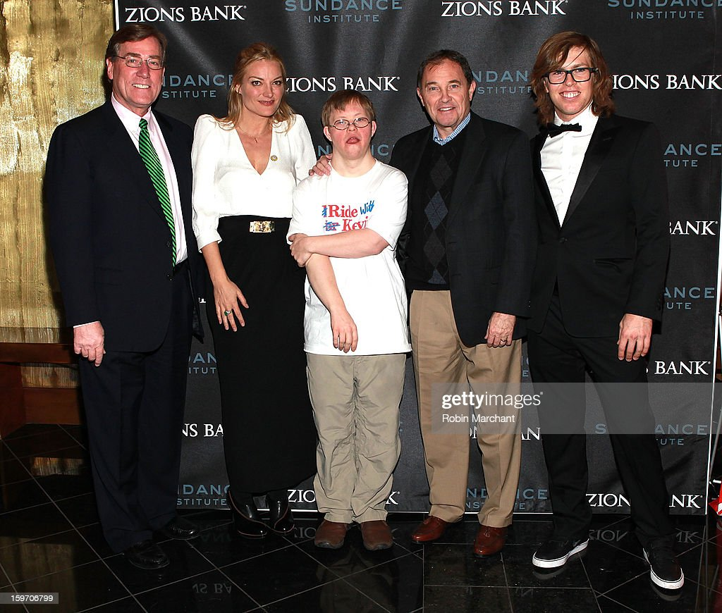President and CEO of Zions Bank Scott Anderson Director Lucy Walker David Pearce Utah Governor Gary R Herbert and American snowboarderKevin Pearce...