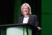 President and CEO Paula Kerger speaks onstage during the Executive Session discussion at the PBS portion of the 2015 Summer TCA Tour at The Beverly...