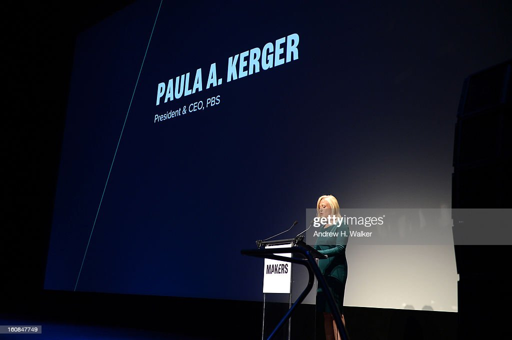 President and CEO, PBS Paula A. Kerger attends the red carpet premiere of
