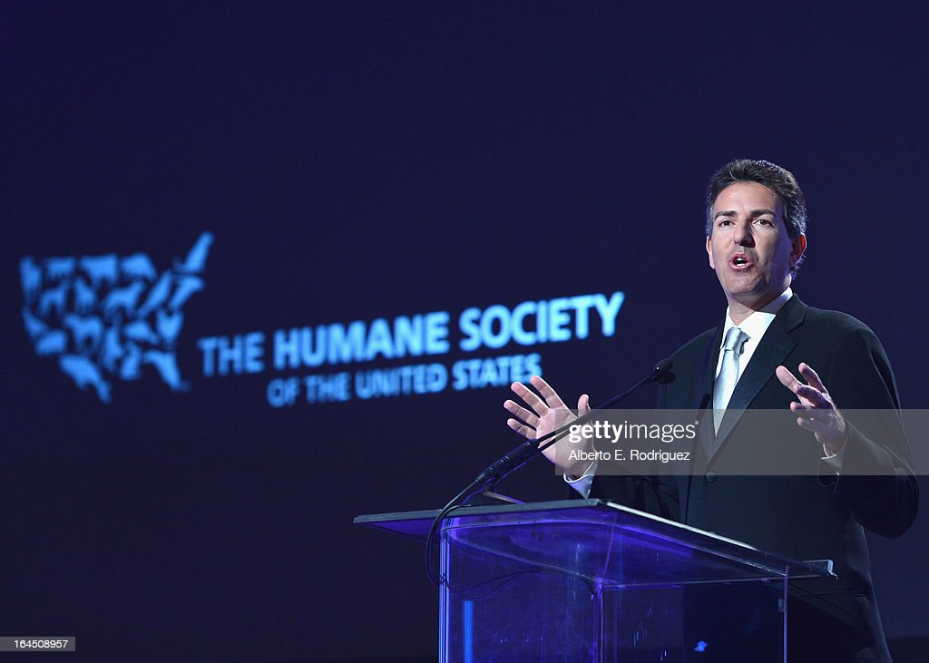 President and CEO Wayne Pacelle attends the 2013 Genesis Awards Benefit Gala at The Beverly Hilton Hotel on March 23 2013 in Beverly Hills California