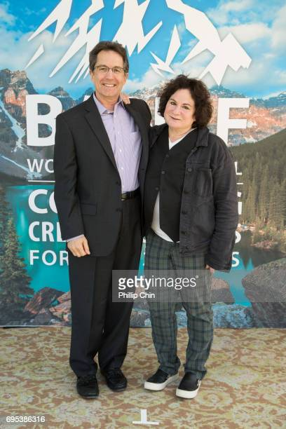 President and Chief Creative Officer Disney Channels Worldwide Gary Marsh and Terri MInsky Disney Show Creator of 'Andi Mack' attend the 2017 Banff...