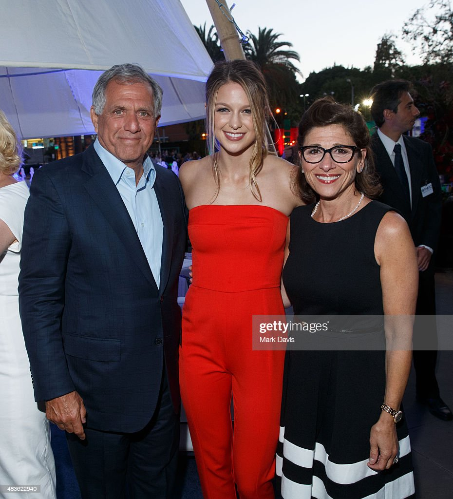 President and Chief Executive Officer CBS Corporation Leslie Moonves actress Melissa Benoist and CBS Entertainment chairman Nina Tassler attend the...