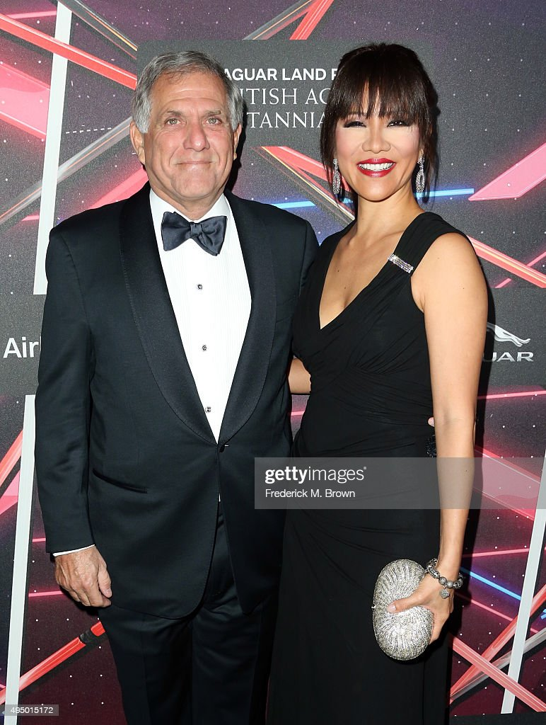 President and Chief Executive Officer of CBS Corporation Les Moonves and tv personality Julie Chen attend the 2015 Jaguar Land Rover British Academy...