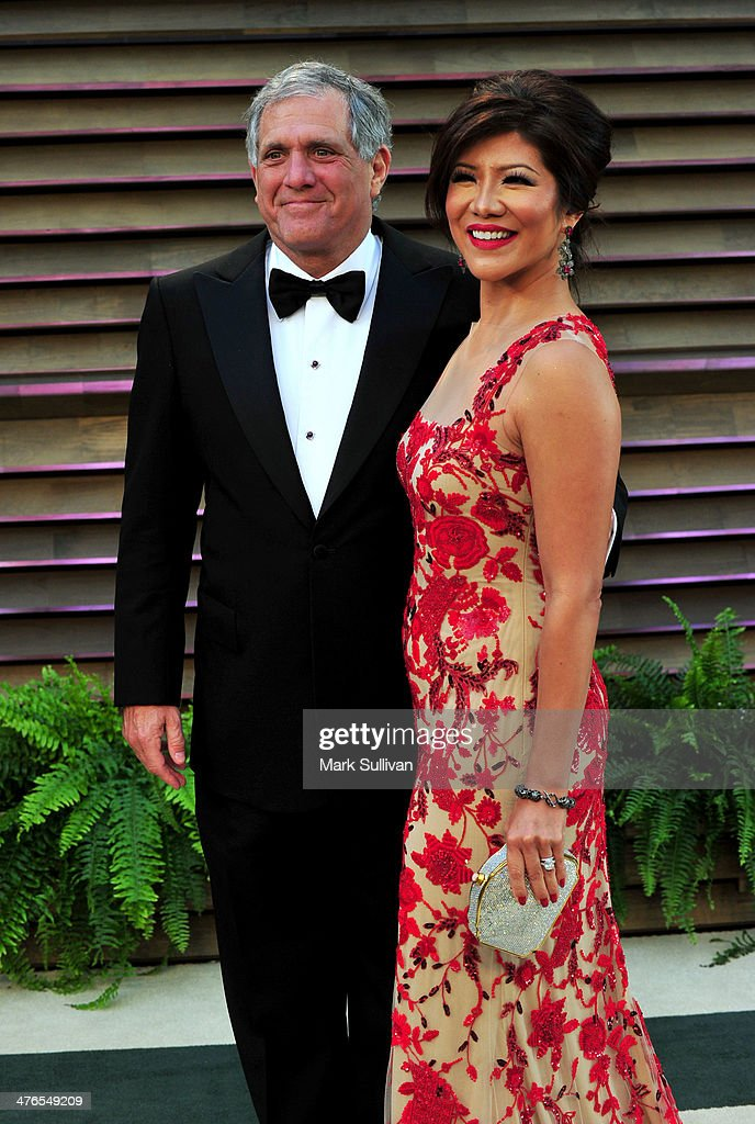 President and Chief Executive Officer of CBS Corporation Leslie Moonves and TV personality Julie Chen attend the 2014 Vanity Fair Oscar Party hosted...