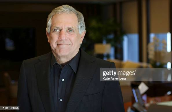 President and Chief Executive Officer of CBS Corporation Leslie Moonves is photographed for Los Angeles Times on February 22 2016 in Los Angeles...