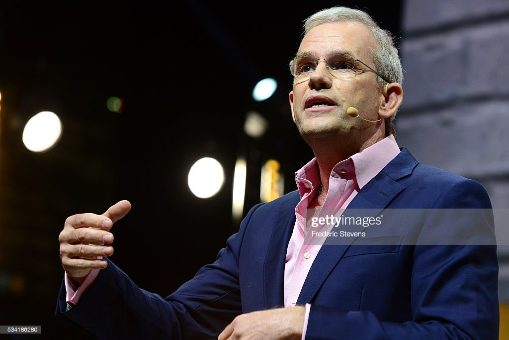 President and Chief Executive Officer of General Electric Europe Mark Hutchinson addresses France's Public Investment Bank (BPI Bpifrance) event Bpifrance Inno Generation BIG at AccorHotels Arena on May 25, 2016 in Paris, France.