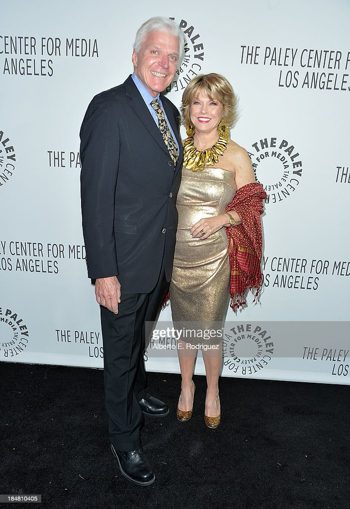 President and Chief Executive Officer of The Paley Center for Media Pat Mitchell (R) and Scott Seydel arrive at The Paley Center for Media's 2013 benefit gala honoring FX Networks with the Paley Prize for Innovation & Excellence at Fox Studio Lot on October 16, 2013 in Century City, California.