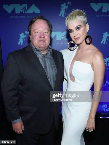 President and Chief Executive Officer of Viacom Inc Robert Bakish and Katy Perry attend the 2017 MTV Video Music Awards at The Forum on August 27...