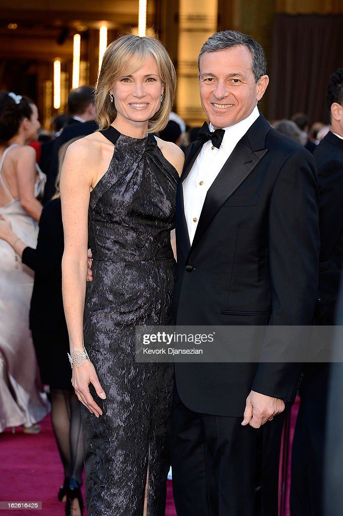 President and Chief Executive Officer, The Walt Disney Company, Robert A. Iger (R) and Willow Bay (L) arrive at the Oscars at Hollywood & Highland Center on February 24, 2013 in Hollywood, California.