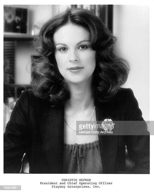 President and Chief Operating officer of Playboy Enterprises Inc Christie Hefner poses for a portrait in circa 1980