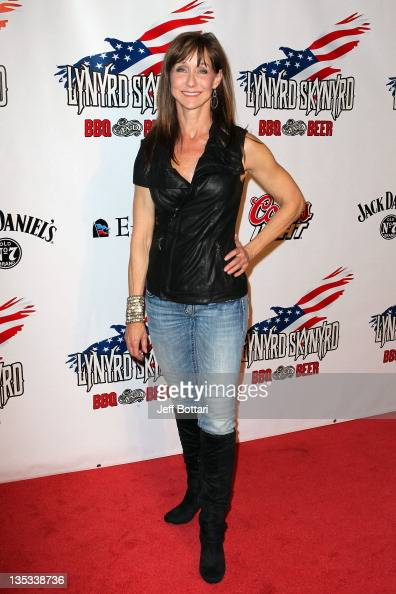 President and Chief Operating Officer of the Excalibur Hotel Casino Renee West arrives at the grand opening of Lynyrd Skynyrd BBQ Beer at the...