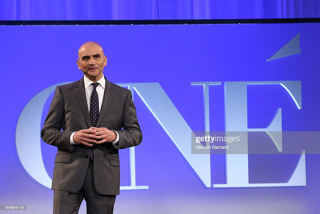 President and Chief Revenue Officer of Conde Nast Media Group Lou Cona speaks at the Conde Nast Entertainment NewFront presentation on May 1, 2013 in New York City. CNE announced the addition of original programming to their digital network including slates inspired by Vogue and Wired, six new series inspired by Glamour and GQ for those channels which launched in March, and additional channels to be added later this year including Vanity Fair, Teen Vogue, Epicurious and Style.com.