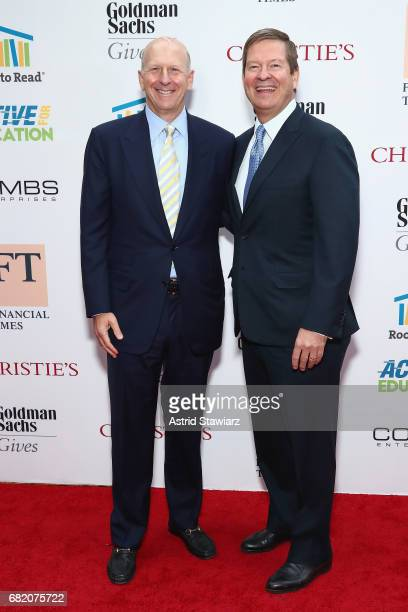 President and CoCOO Goldman Sachs event honoree David M Solomon and CEO HPS Investment Partners Board Chair Room to Read and 2017 NY gala chair Room...