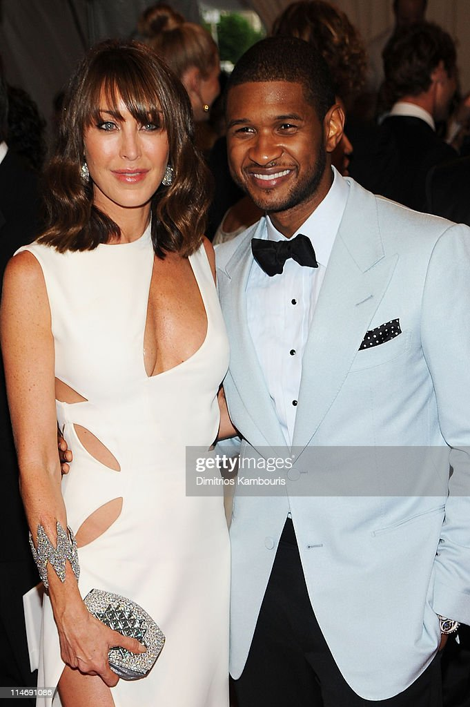 President and co-founder of Jimmy Choo Tamara Mellon and singer Usher attend the Costume Institute Gala Benefit to celebrate the opening of the 'American Woman: Fashioning a National Identity' exhibition at The Metropolitan Museum of Art on May 3, 2010 in New York City.